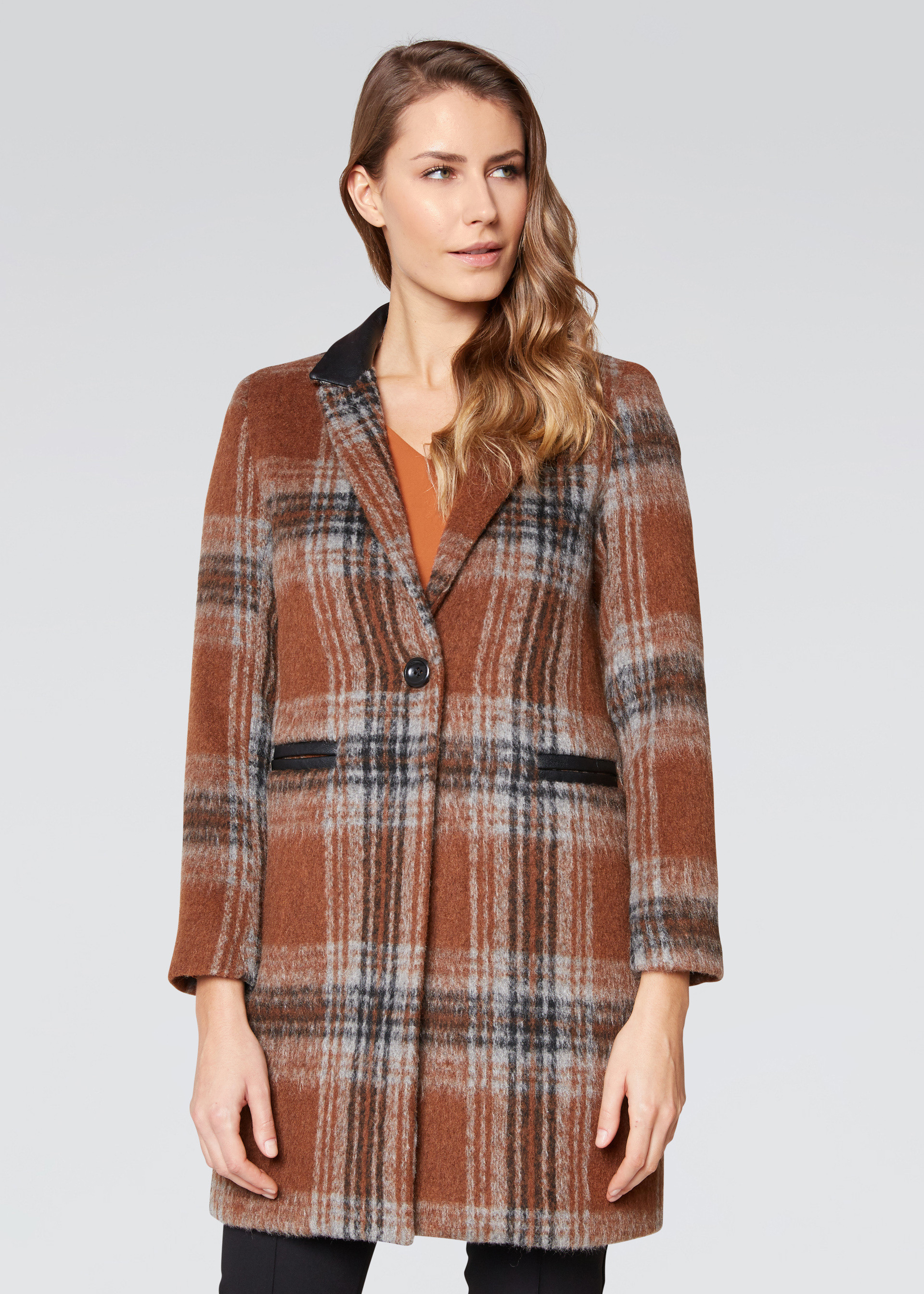 Cappotto fantasia check