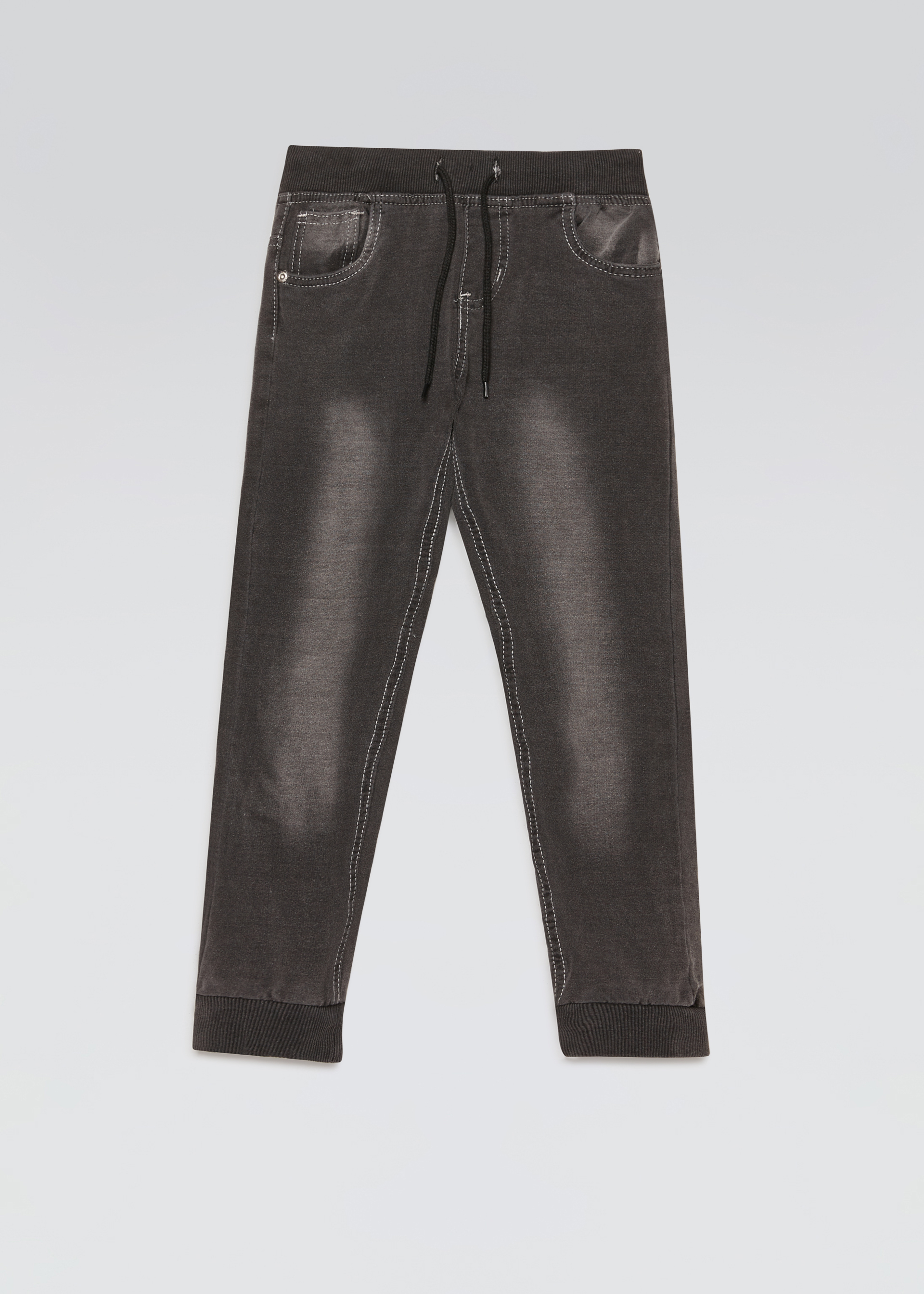 Pantaloni denim in felpa