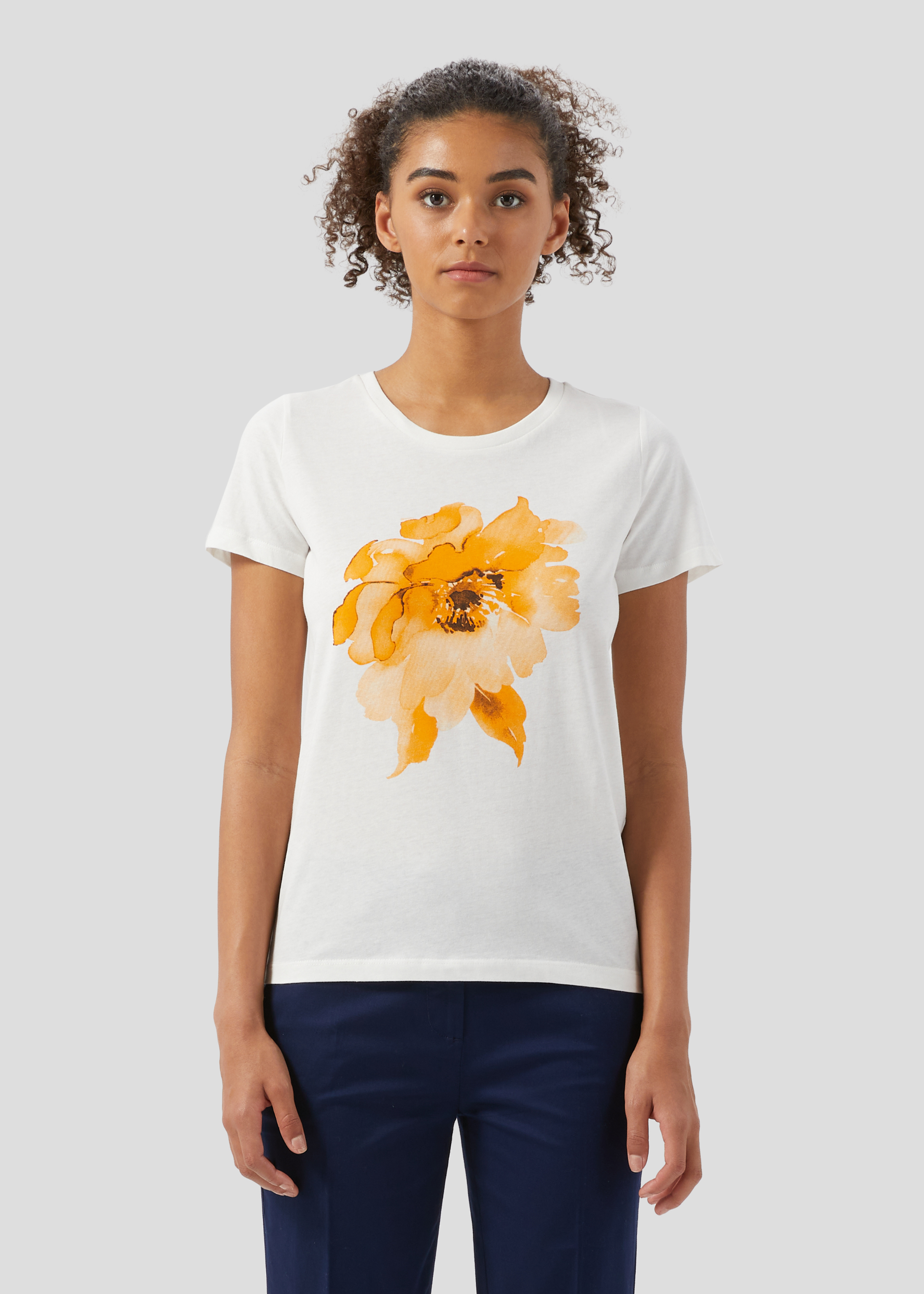 T-shirt stampa fiore