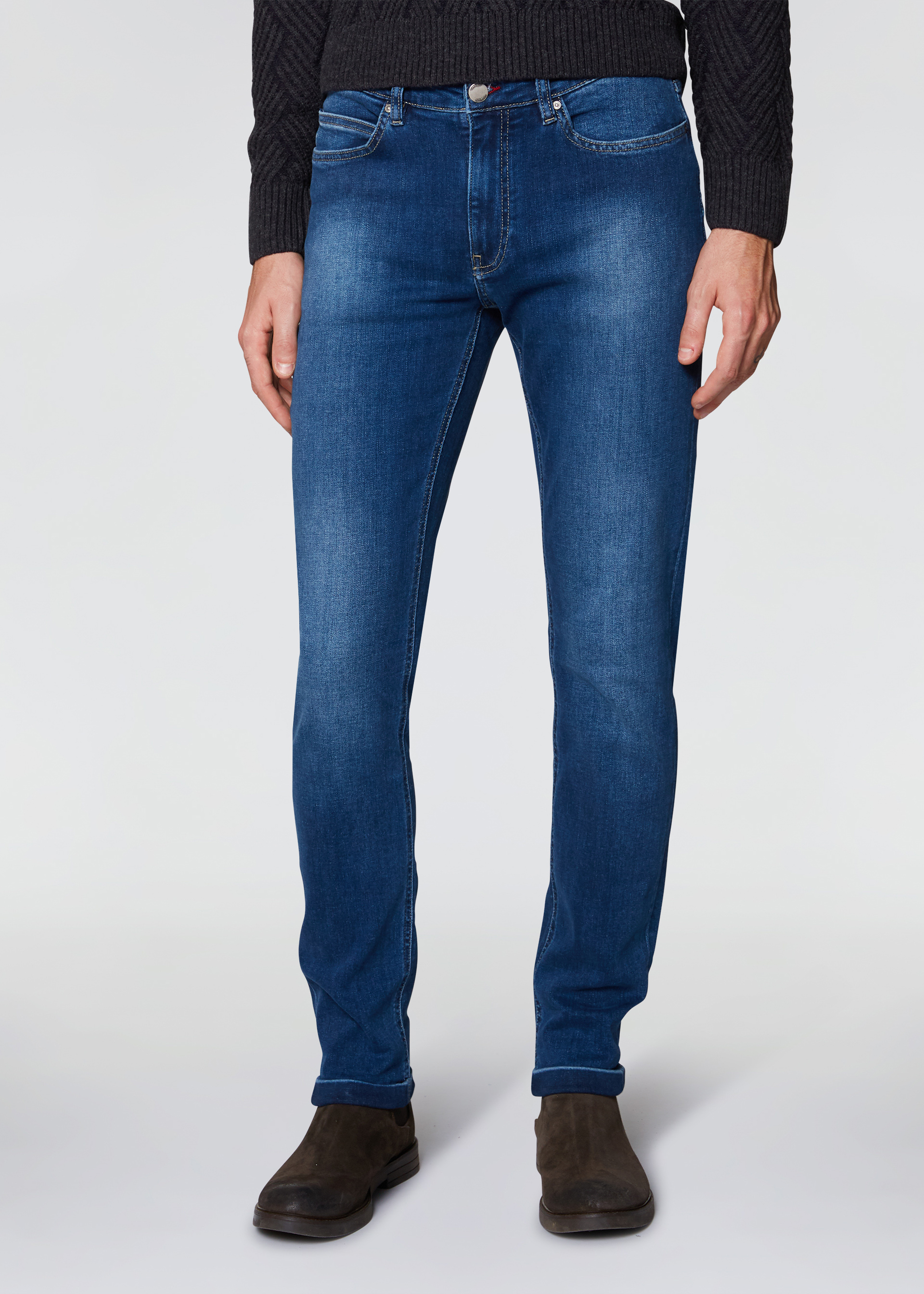 Jeans bottoni colorati