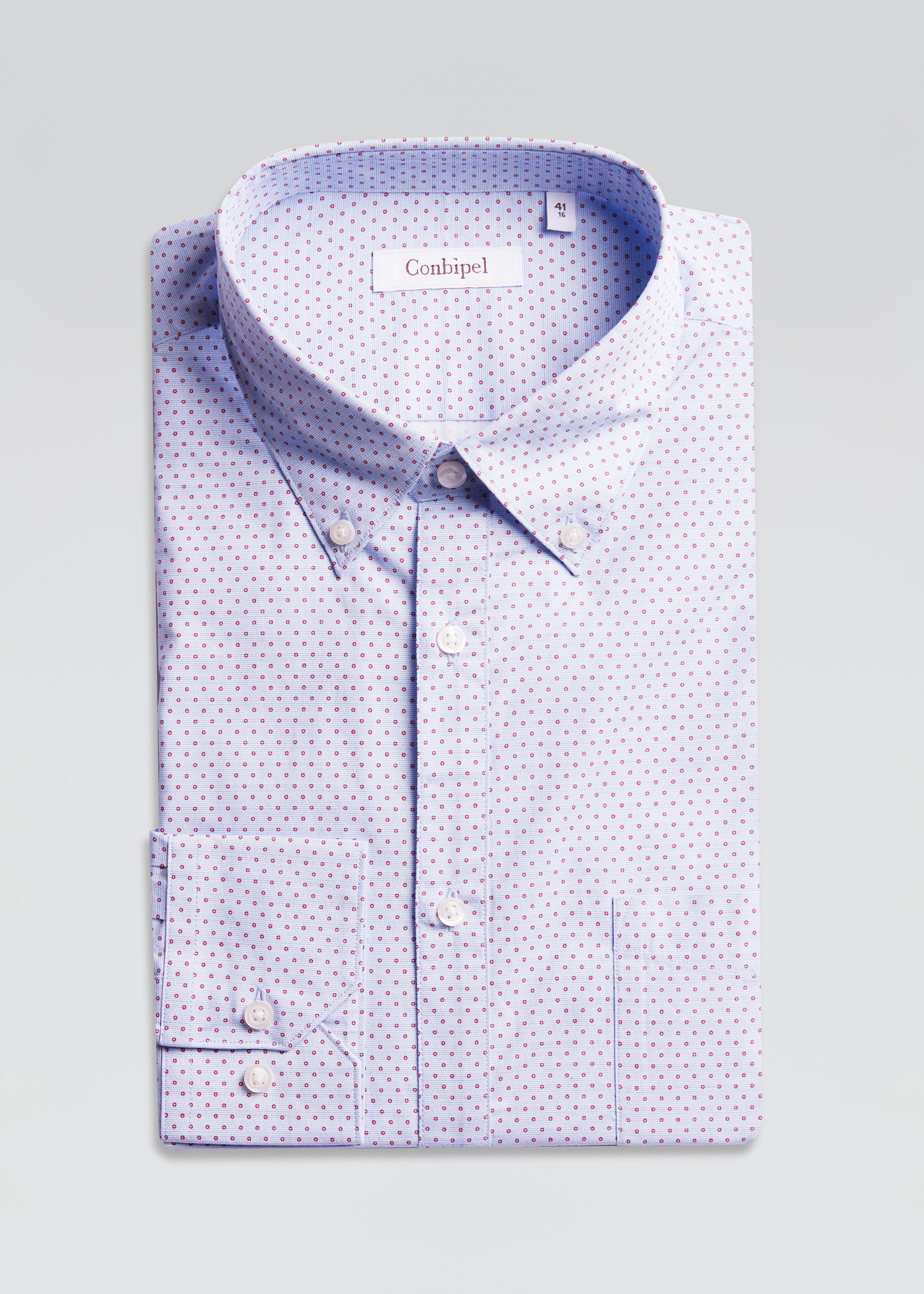 Camicia a pois slim fit