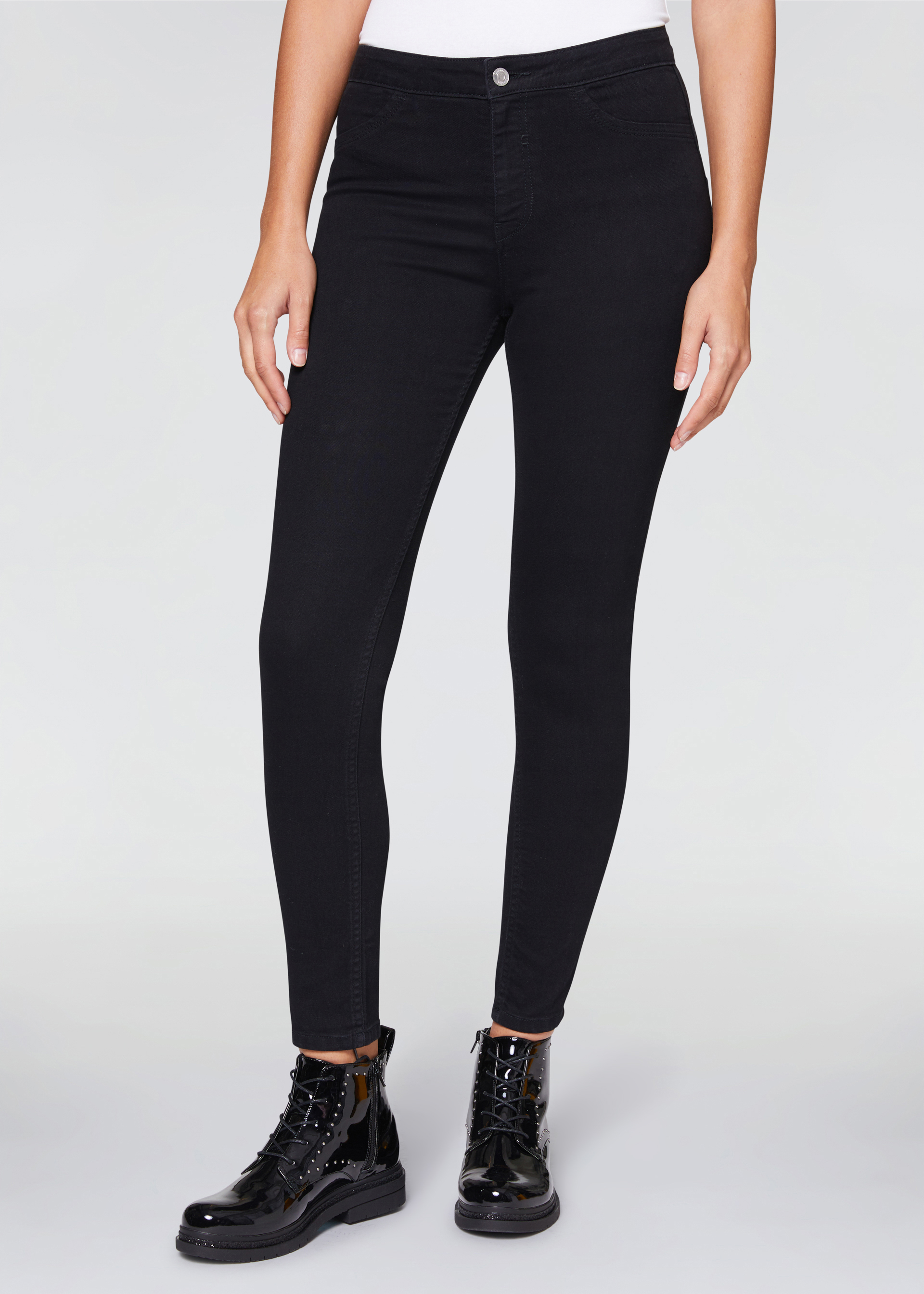 Jeggings a vita alta