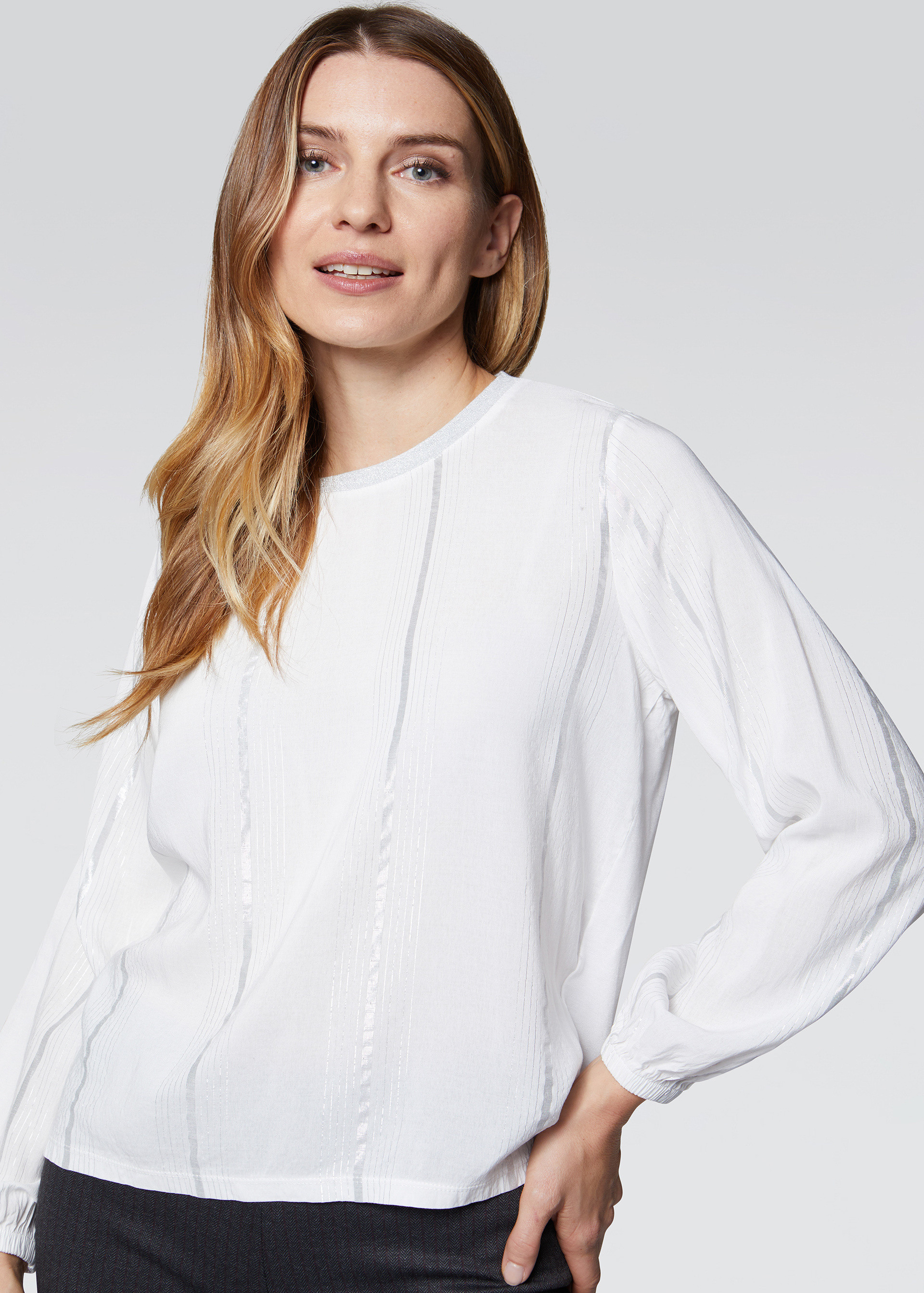 Blusa stampa a righe