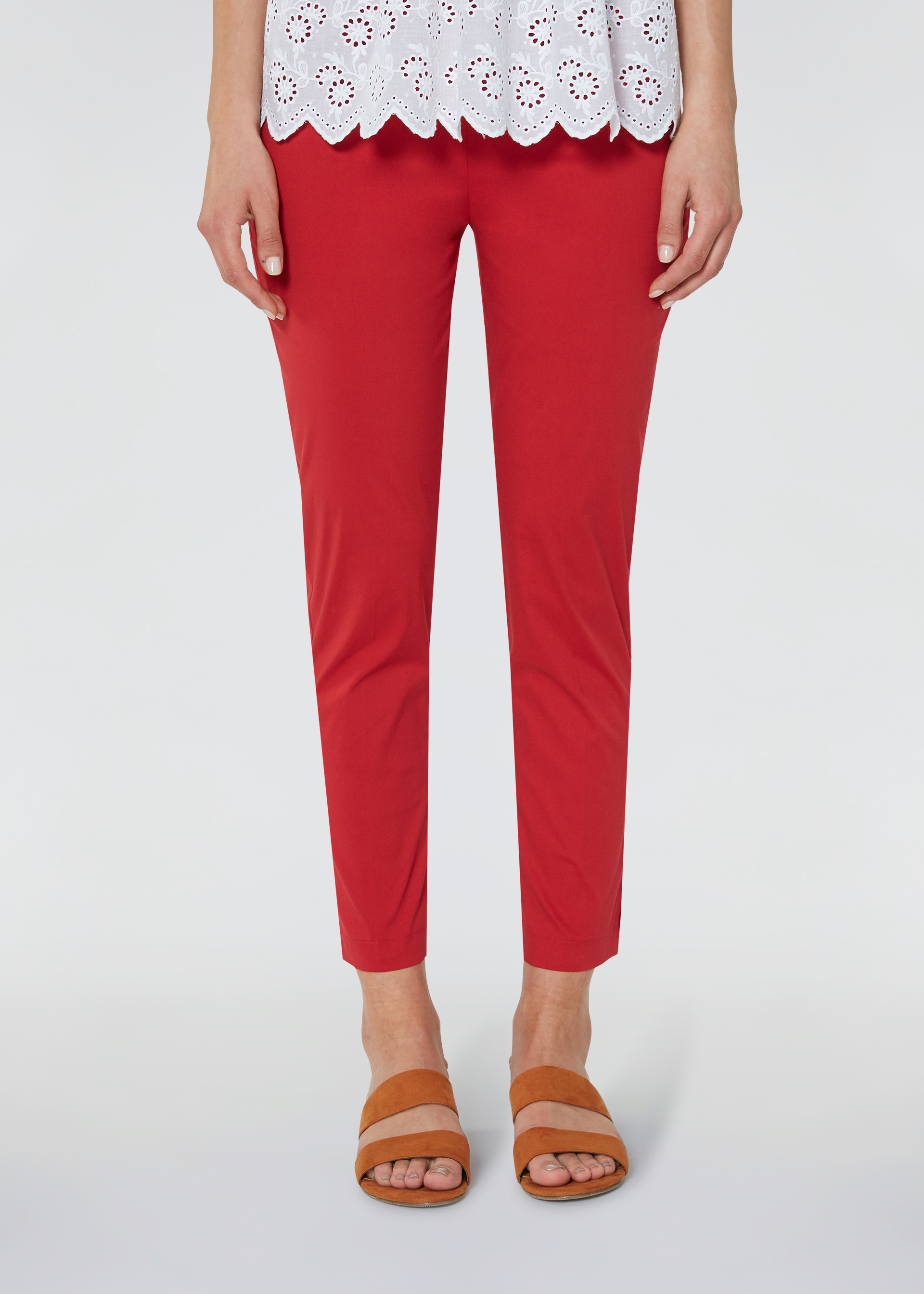 Pantaloni slim cropped