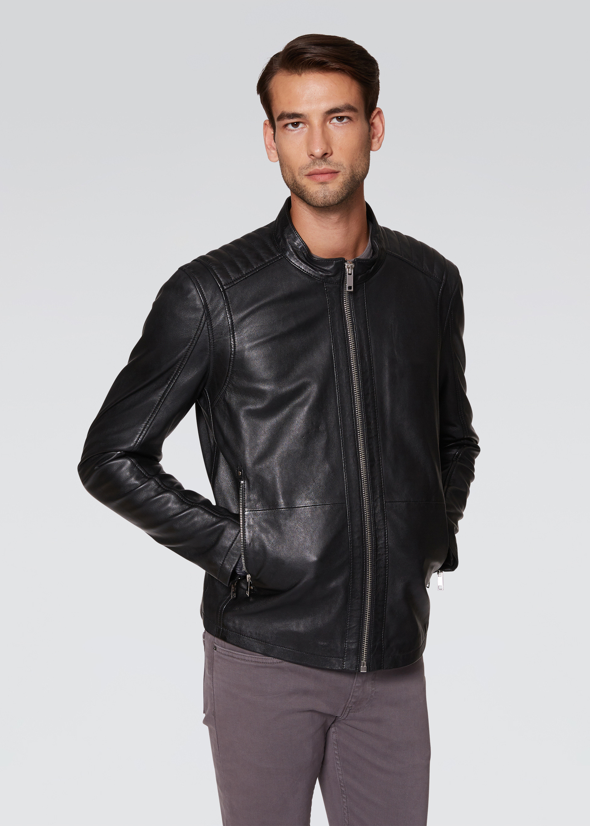 Biker in nappa antik