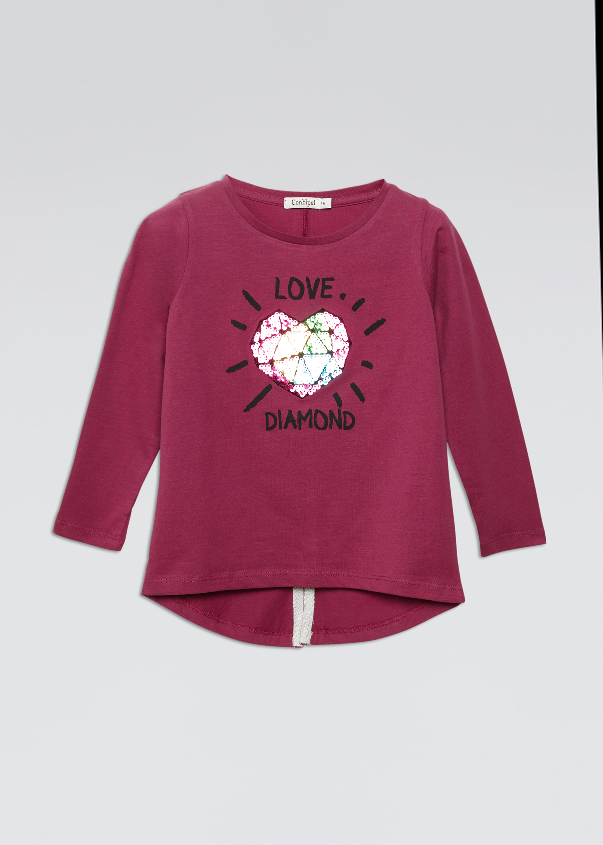 T-shirt stampa diamante