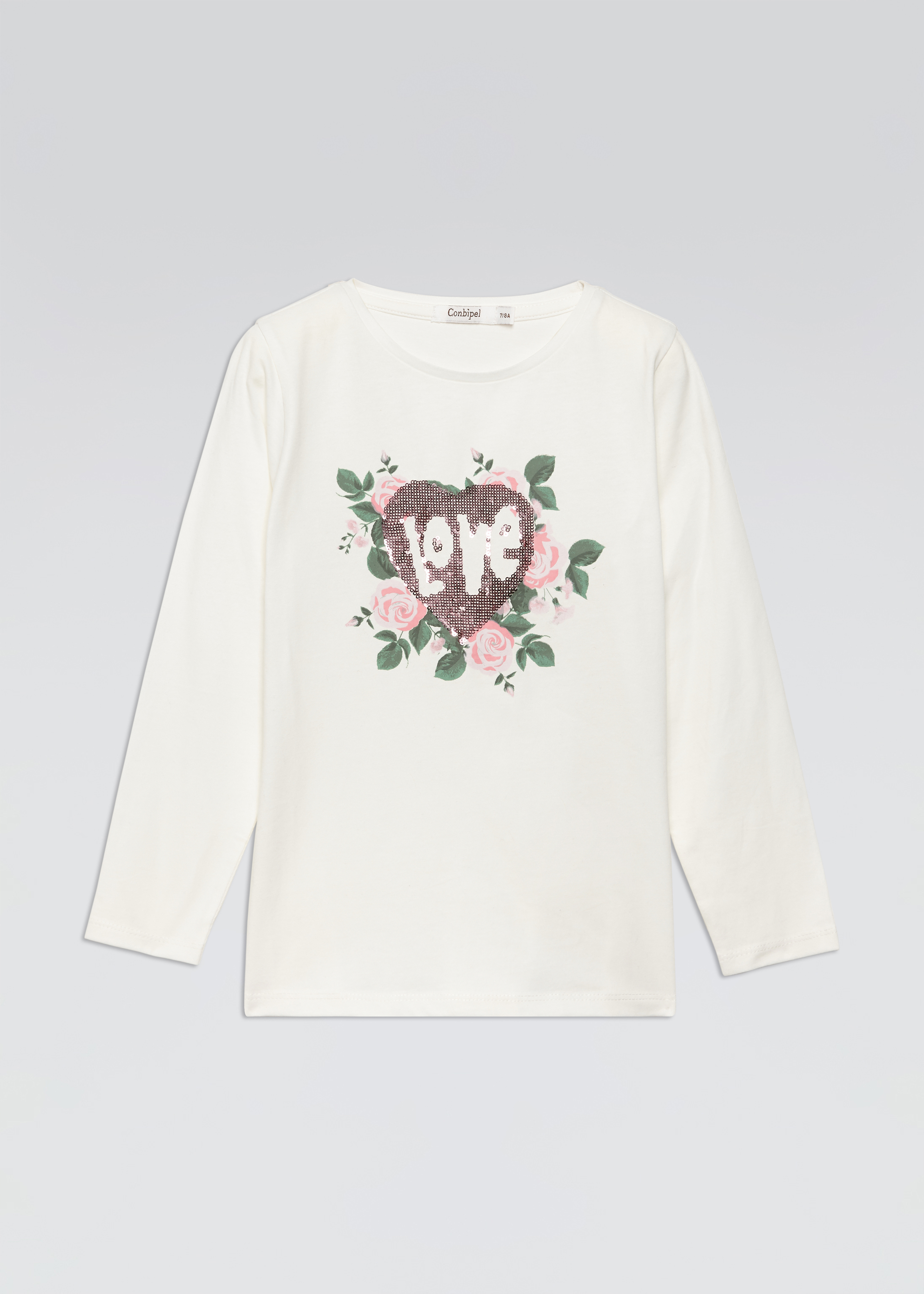 T-shirt con stampa rose