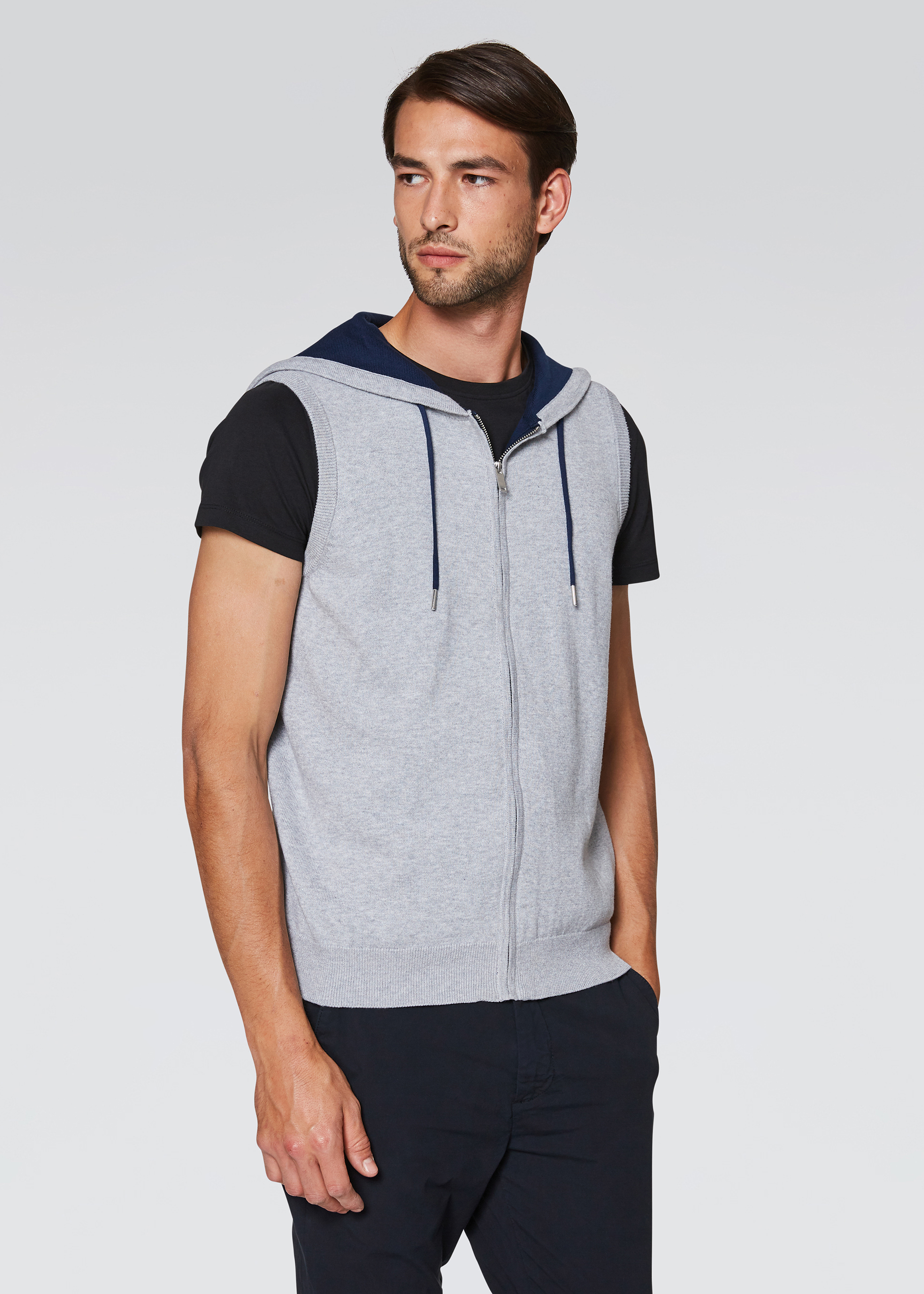 Gilet casual in felpa