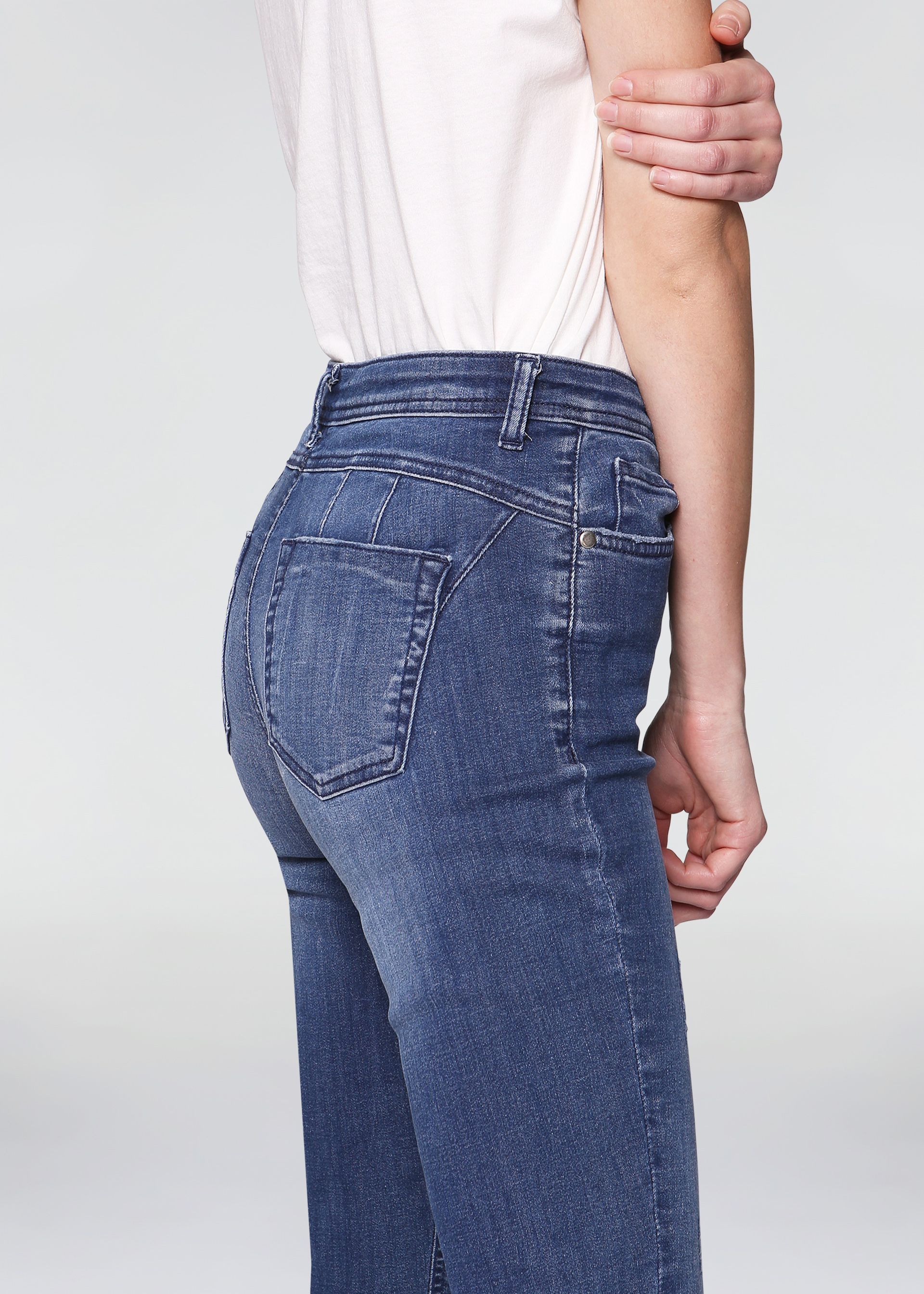 Jeans skinny bottom up