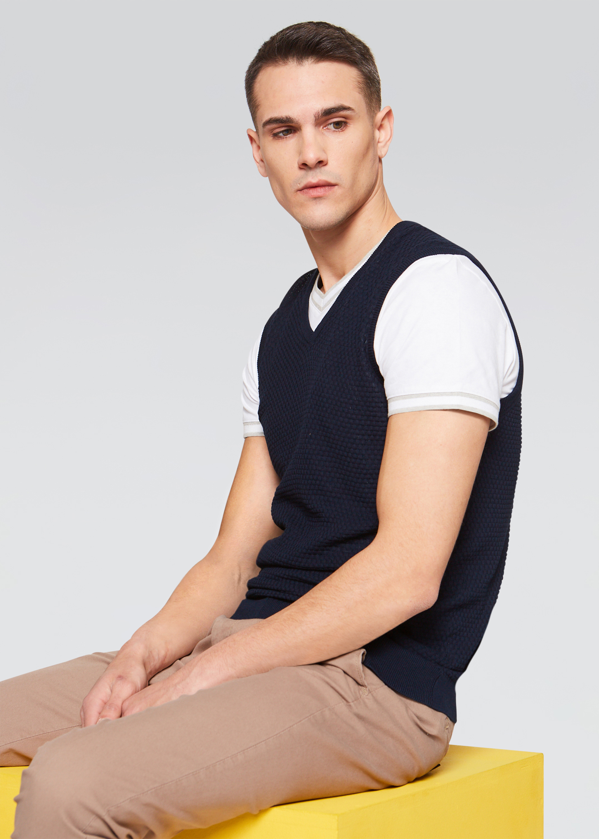 Gilet in cotone slim fit